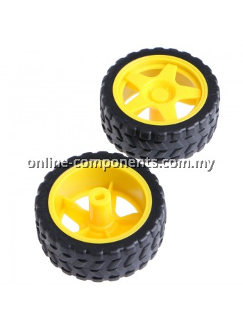 WHEEL 66mm FOR TT MOTOR (ONLY WHEEL)